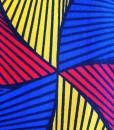 Kitenge tricolor detail